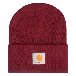 BONNET CARHARTT WIP ACRYLIC WATCH HAT - MULBERRY