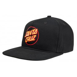 CASQUETTE SANTA CRUZ DOT CAP - BLACK