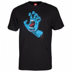 T-SHIRT SANTA CRUZ SCREAMING HAND - BLACK
