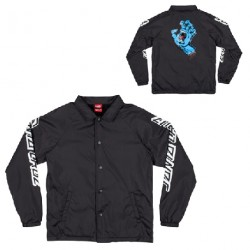 VESTE SANTA CRUZ YOUTH SCREAMING HAND COACH - BLACK