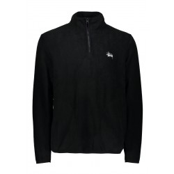 SWEAT STUSSY POLAR FLEECE HALF - BLACK