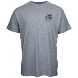 T-SHIRT SANTA CRUZ FLAME DOT - DARK HEATHER