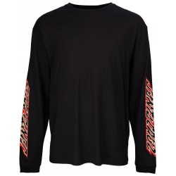 T-SHIRT SANTA CRUZ FLAME DOT L/S - BLACK