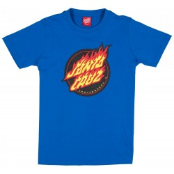 T-SHIRT SANTA CRUZ YOUTH FLAME DOT TEE - ROYAL BLUE