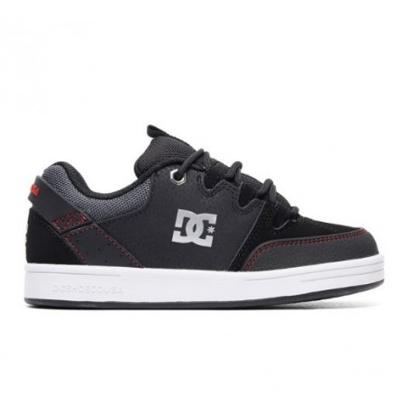 CHAUSSURES DC SHOES SYNTAX KID BLACK RED WHITE