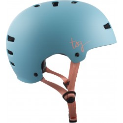 CASQUE TSG EVOLUTION SOLID COLOR WMN SATIN PORCELAIN BLUE