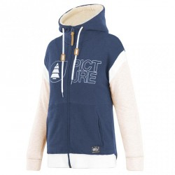 SWEAT PICTURE ORGANIC FEMME BASEMENT HOOD 2.0 ZIP - DARK BLUE