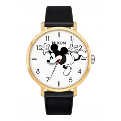MONTRE NIXON X DISNEY ARROW LEATHER - GLOD BLACK MICKEY