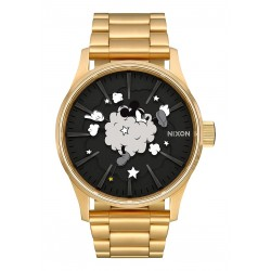 MONTRE NIXON X DISNEY SENTRY SS - GOLD BLACK FIGHT CLOUD