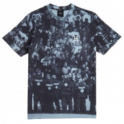 T SHIRT HUF WORLD CUP GALAXY RIOT POWDER - BLUE