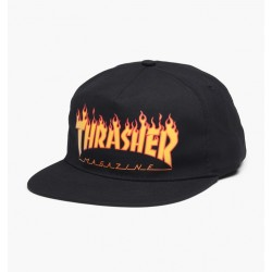 CASQUETTE THRASHER FLAME BLACK