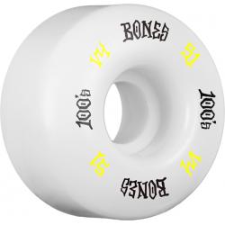 ROUES BONES 100'S V4 WHITE 51MM