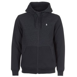 SWEAT VOLCOM SINGLE STONE SHERPA LINED HOOD ZIP - SULFUR BLACK