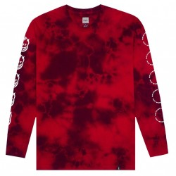 T-SHIRT L/S HUF X SPITFIRE BURN FASTER - RED
