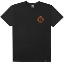 T-SHIRT HUF X SPITFIRE FIRE SWIRL - BLACK