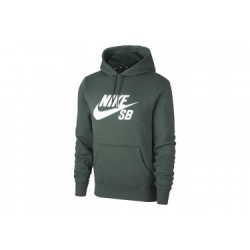 SWEAT NIKE SB ICON PO HOODIE ESSENTIAL - MIDNIGHT GREEN/WHITE