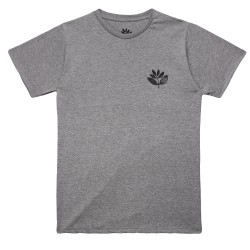 T-SHIRT MAGENTA PLANT - HEATHER GREY
