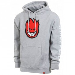 SWEAT SPITFIRE HOOD BIGHEAD - HEATHER GREY RED