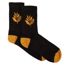 CHAUSSETTES MAGENTA PLANT SOCKS MID - BLACK ORANGE