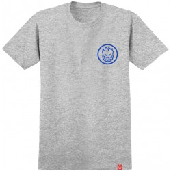 T-SHIRT SPITFIRE CLASSIC SWIRL ATHLETIC - HEATHER GREY BLUE