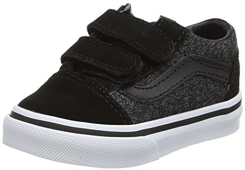 Chaussures Vans Old Skool V Enfant Black Suede & Sulting