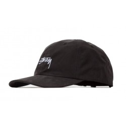 CASQUETTE STUSSY PEACHED SMOOTH STOCK LOW PRO - BLACK