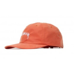 CASQUETTE STUSSY PEACHED SMOOTH STOCK LOW PRO - ORANGE