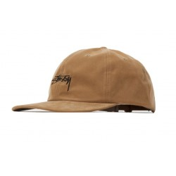 CASQUETTE STUSSY PEACHED SMOOTH STOCK LOW PRO - CAMEL