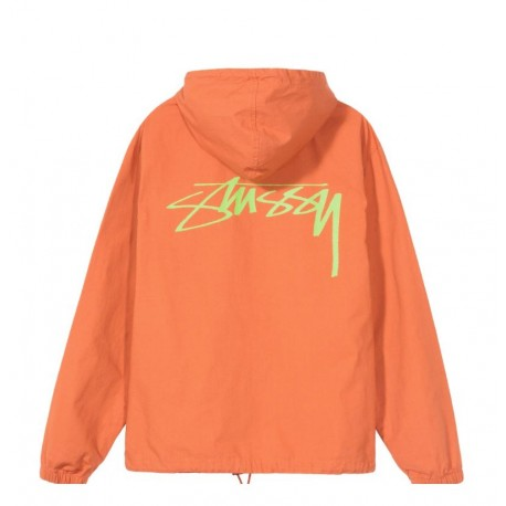 SWEAT STUSSY RIPSTOP PULLOVER - RUST