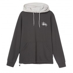 SWEAT STUSSY TWO TONE HOOD - BLACK
