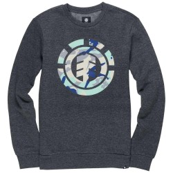 SWEAT ELEMENT SPIRIT CAMO CREW BOY - ECLIPSE NAVY