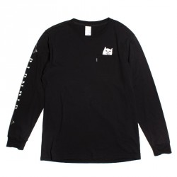 T-SHIRT L/S RIPNDIP LORD NERMAL - BLACK