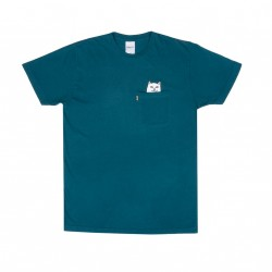 T-SHIRT RIPNDIP NERMAL POCKET - AQUA