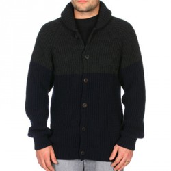 SWEAT VOLCOM PITFIELD CARDIGAN - MIDNIGHT