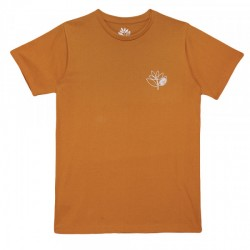T-SHIRT MAGENTA PLANT OUTLINE - ORANGE