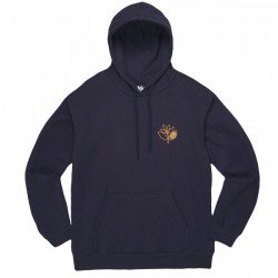 SWEAT MAGENTA PLANT OUTLINE HOODIE - NAVY