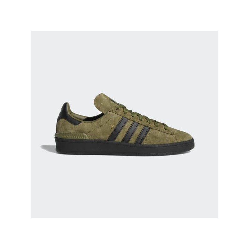 timeless design ca9a0 ceefb Chaussure Adidas Sb Campus Vulc - Olive Cargo Core Black