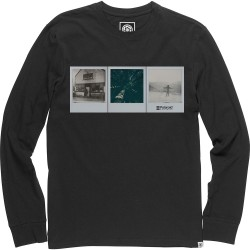 T-SHIRT ELEMENT POLAROID BRANDON WESTGATE LS - FLINT BLACK