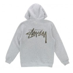 SWEAT STUSSY CAMO STOCK - ASH HEATHER