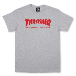 T-SHIRT THRASHER SKATE MAG - GREY RED