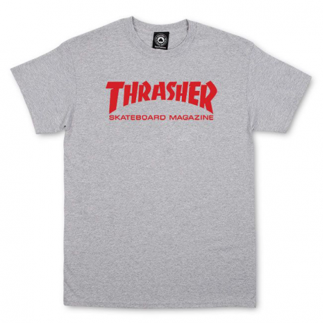 T -SHIRT THRASHER SKATE MAG - GREY RED