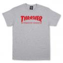 T-SHIRT THRASHER SKATE MAG - GREY RED