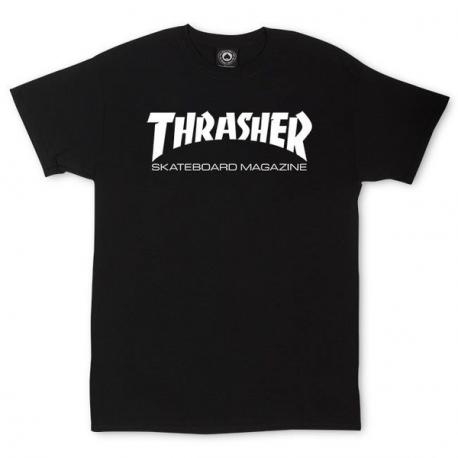 T -SHIRT THRASHER SKATE MAG - BLACK