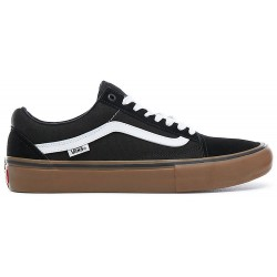 CHAUSSURES VANS OLD SKOOL PRO - BLACK/WHITE/GUM