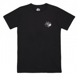 T-SHIRT MAGENTA OUTLINE - BLACK