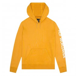 SWEAT HUF MISSION PO HOOD - MINERAL YELLOW