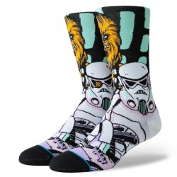CHAUSSETTE STANCE STARWARS WARPED CHEWBACCA - BLACK