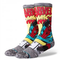 CHAUSSETTE STANCE X MARVEL DTC STYLES SPIDERMAN COMIC