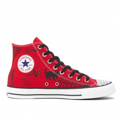 CHAUSSURES CONVERSE CONS CTAS PRO HI SEAN PABLO - ENAMEL RED BLACK WHITE