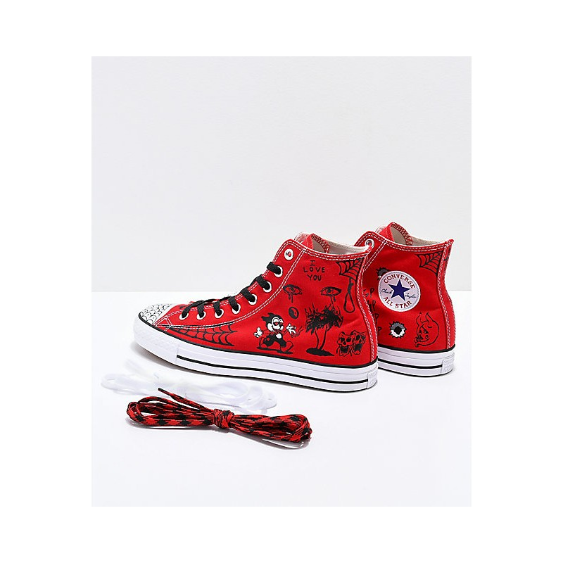 074e5a406fc ... Chaussures Converse Cons Ctas Pro Hi Sean Pablo - Enamel Red new  specials 357e5 99373 ...